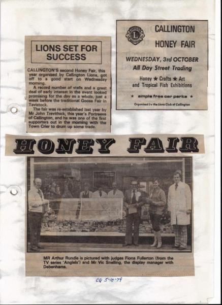 Cornish Guardian Clippings about Honey Fair 1979